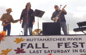 "The band ""Treymane"" performs during the Buttahatchee River Fall Fest Saturday, Oct. 27 in Hamilton."